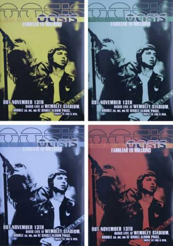 Oasis Familiar To Millions  Set Of 4 Promo Posters 2000 UK poster SET OF 4 PROMO POSTERS