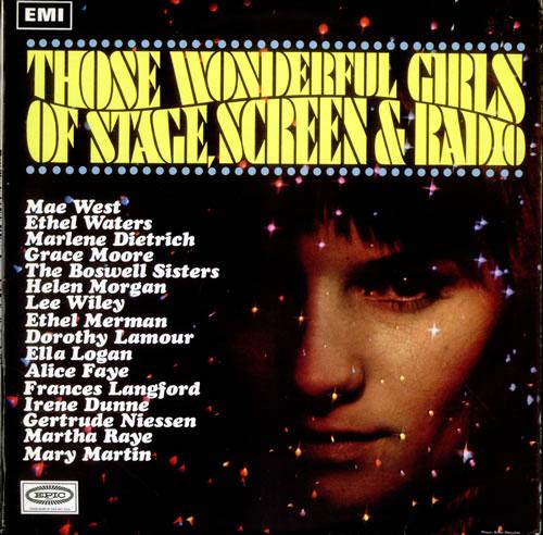 VariousFilm Radio Theatre & TV Those Wonderful Girls Of Stage Screen & Radio 1967 UK vinyl LP SX6152