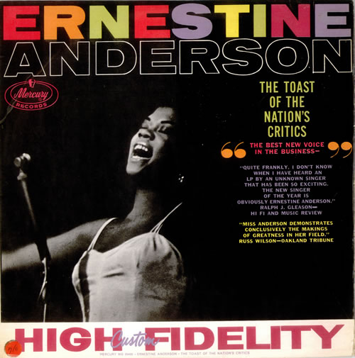 Ernestine Anderson The Toast Of The Nations Critics 1959 New Zealand vinyl LP MG20400