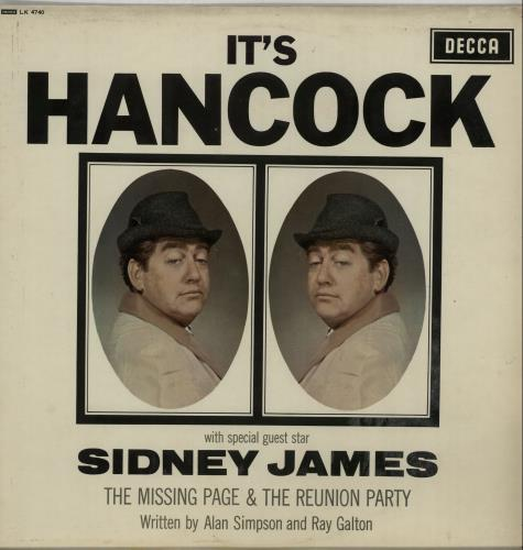 Tony Hancock Its Hancock 1965 UK vinyl LP LK4740
