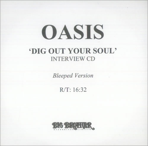 Oasis Dig Out Your Soul  Bleeped Version Interview CD 2008 UK CDR acetate CDR ACETATE