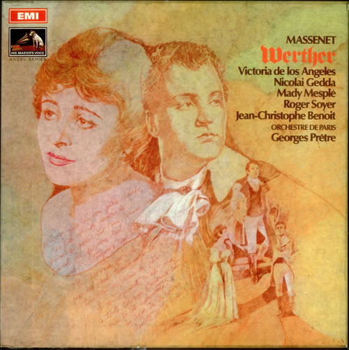 Jules Émile Frédéric Massenet Werther 1969 UK 3LP vinyl set SLS9453