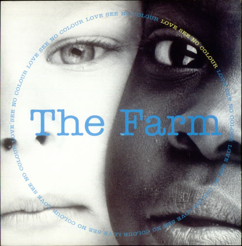 "Image of The Farm Love See No Colour 1991 UK 7"" vinyl MILK106"