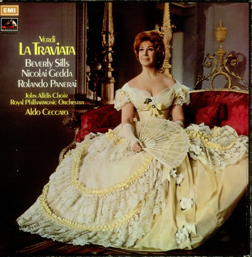 Giuseppe Verdi La Traviata 1972 UK vinyl box set SLS960