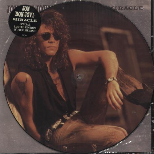 Jon Bon Jovi Miracle 1990 UK 12 picture disc JBJP212