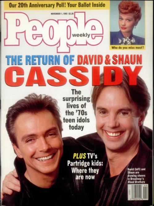 Image of David Cassidy People Weekly 1993 USA magazine MAGAZINE