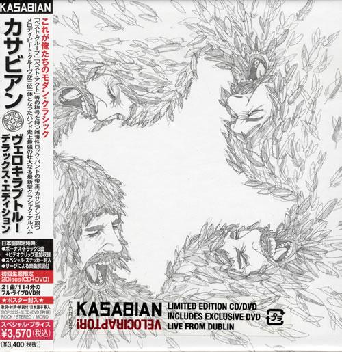 Kasabian Velociraptor! 2011 Japanese 2disc CDDVD set SICP3272