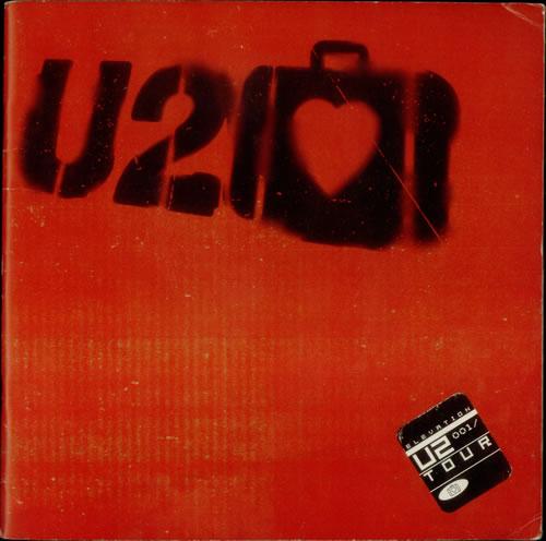 U2 Elevation Tour 2001 UK tour programme TOUR PROGRAMME