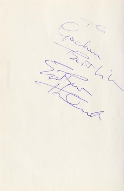 Autographed Sheet