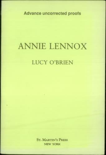 Annie Lennox Annie Lennox Sweet Dreams Are Made Of This 1993 USA book 2 X BOOKS