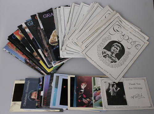 Cliff Richard Collection of Grapevine Fanzines & Xmas Cards UK memorabilia XMAS CARD AND MAGAZINES