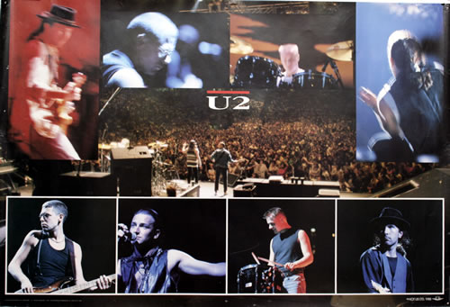 U2 U2  Colour Montage 1988 UK poster POSTER