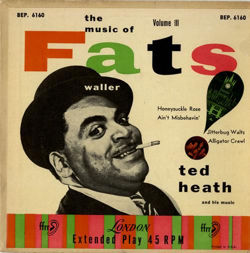 Ted Heath The Music Of Fats Waller Vol. III EP 1954 USA 7 vinyl BEP.6160
