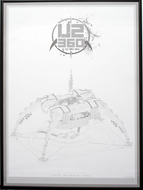 U2 - 360° At The Rose Bowl - Numbered Lithograph