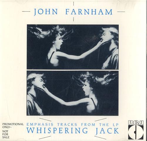 John Farnham Emphasis Tracks From The LP Whispering Jack 1986 USA CD album 6310-2-RDJ lowest price