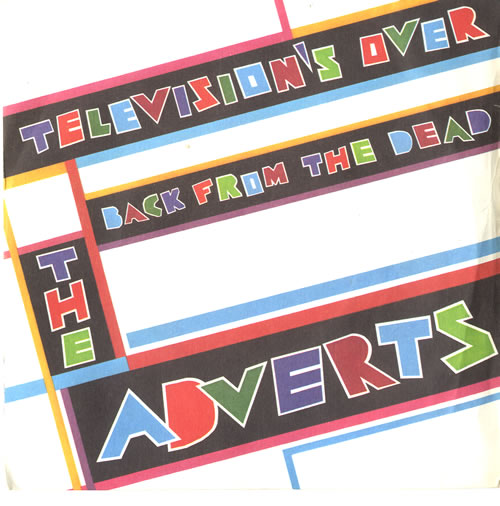 The Adverts Televisions Over 1978 UK 7 vinyl PB5128