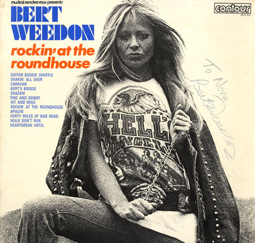 Image of Bert Weedon Rockin' At The Roundhouse - Autographed 1970 UK vinyl LP 6870537