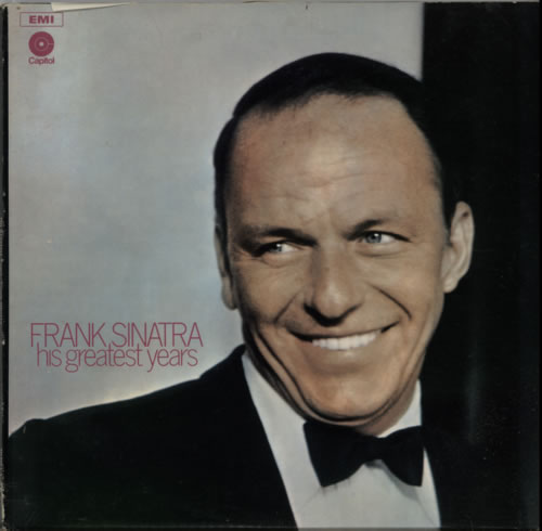 Image of Frank Sinatra His Greatest Years - Lime Green Labels 1971 UK 3-LP vinyl set SRSSP1/3