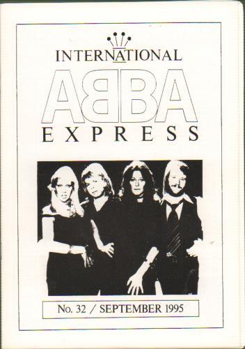 Abba Abba International Express  Issue 32 Sept 95 1995 UK fanzine