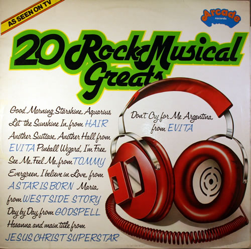 VariousFilm Radio Theatre & TV 20 Rock Musical Greats 1977 UK vinyl LP ADEP31