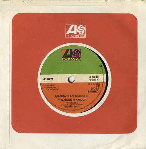 "Image of The Manhattan Transfer Chanson D' Amour 1976 UK 7"" vinyl K10886"
