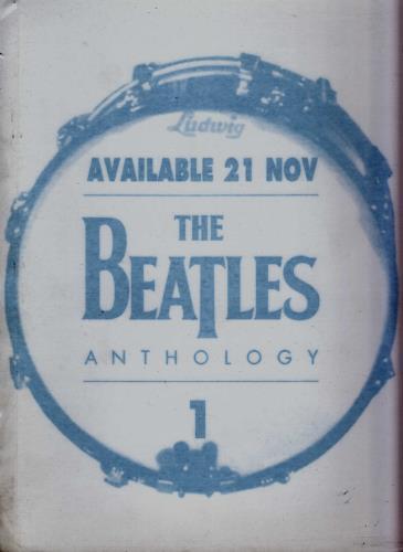 The Beatles Anthology 1  Window Sticker 1995 UK display WINDOW STICKER