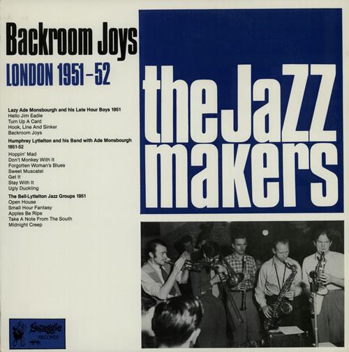 Humphrey Lyttelton Backroom Joys - London 1951/2 1972 Australian vinyl LP S1290