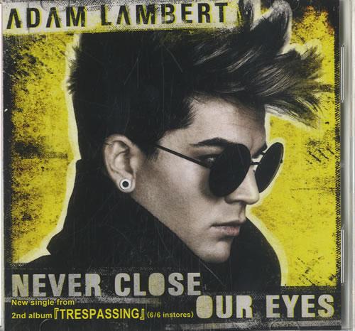 Image of Adam Lambert Never Close Our Eyes 2012 Japanese CD-R acetate CD-R ACETATE