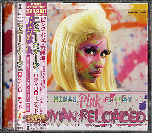 Nicki Minaj Pink Friday Roman Reloaded 2012 Japanese CD album UICT9015