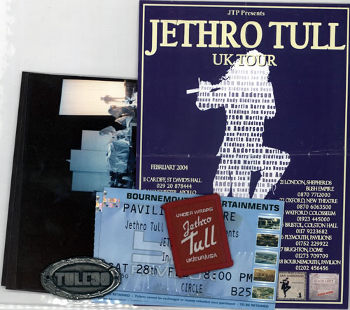 Jethro Tull Tasty Tull Tour Trophies UK memorabilia VARIOUS STUFF