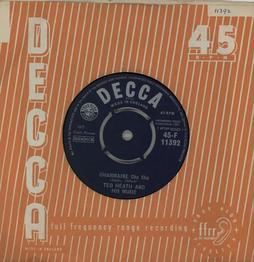 Ted Heath Charmaine (Cha Cha) 1961 UK 7 vinyl 45F11392