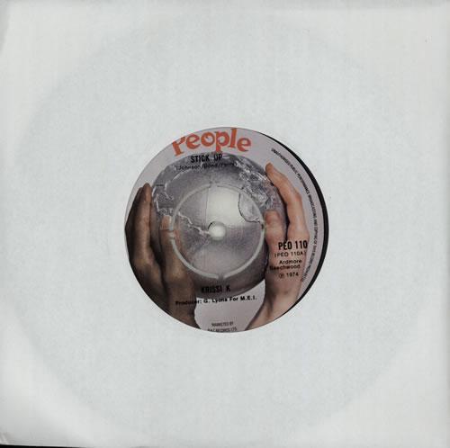 "Image of Krissi K Stick It Up 1974 UK 7"" vinyl PEO110"