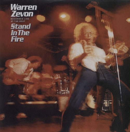 Image of Warren Zevon Stand In The Fire 2007 UK CD-R acetate CD-R ACETATE