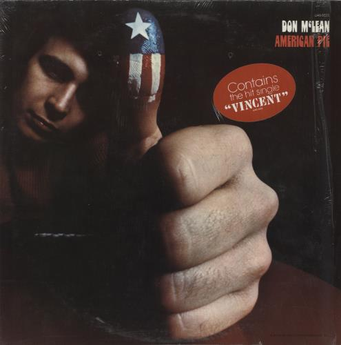 Don McLean American Pie 1971 UK vinyl LP UAS29285