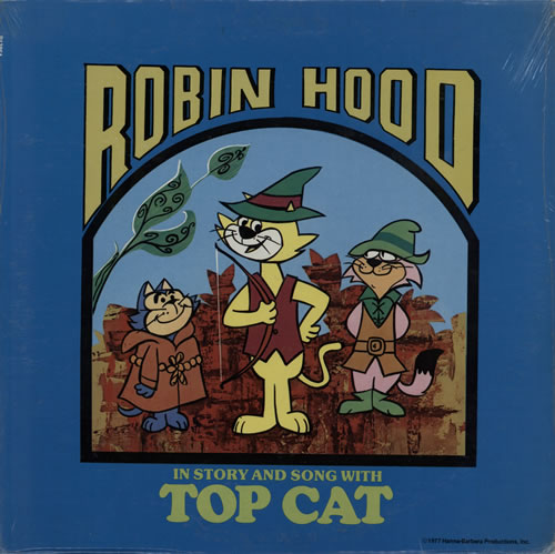 HannaBarbera Robin Hood In Story & Song With Top Hat  Sealed 1977 USA vinyl LP P13864