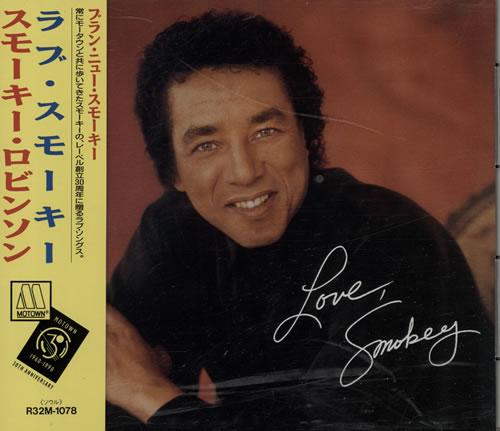Image of Smokey Robinson Love Smokey 1990 Japanese CD album R32M-1078