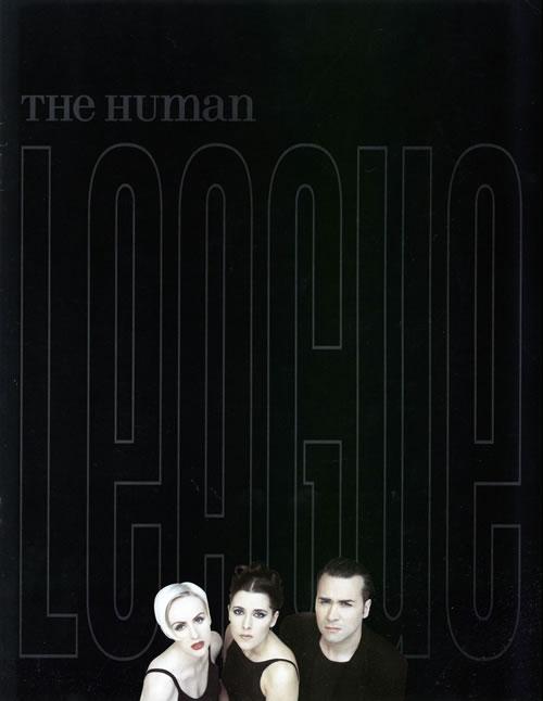 Human League The Human League  1995 Tour  ticket stub 1995 UK tour programme PROGRAMME  TICKET