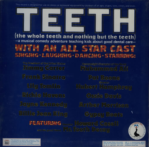 VariousEducational Informational & Historical The Whole Teeth & Nothing But The Teeth  Sealed USA vinyl LP FV1001