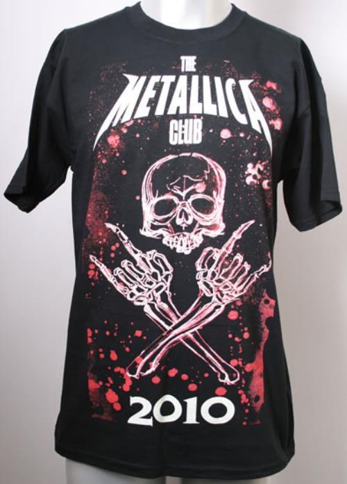 Metallica The Metallica Club 2010 2010 USA tshirt CLUB TSHIRT