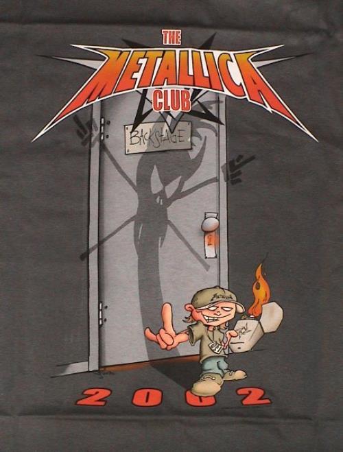 Metallica The Metallica Club 2002 2002 USA tshirt CLUB TSHIRT