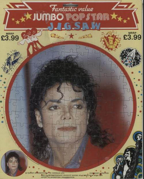 Michael Jackson Michael Jackson Jigsaw UK memorabilia JIGSAW