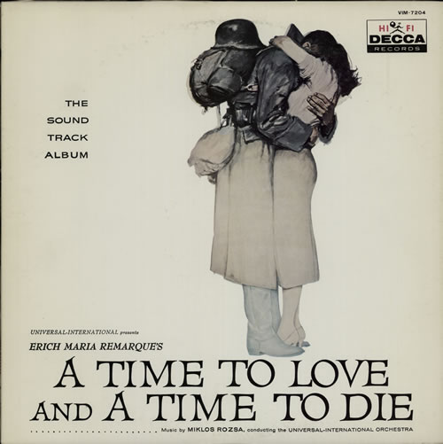 Miklos Rozsa A Time To Love And A Time To Die 1976 Japanese vinyl LP VIM7204