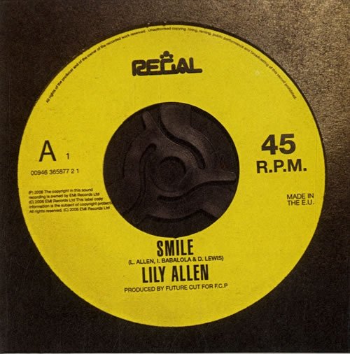 Lily Allen Smile 2006 UK CD single LILY002