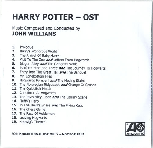 Harry Potter Harry Potter And The Philosophers Stone 2001 UK CDR acetate CDR