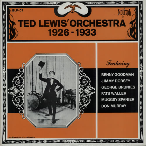 Ted Lewis Ted Lewis Orchestra 1926  1933 1973 USA vinyl LP BLPC7