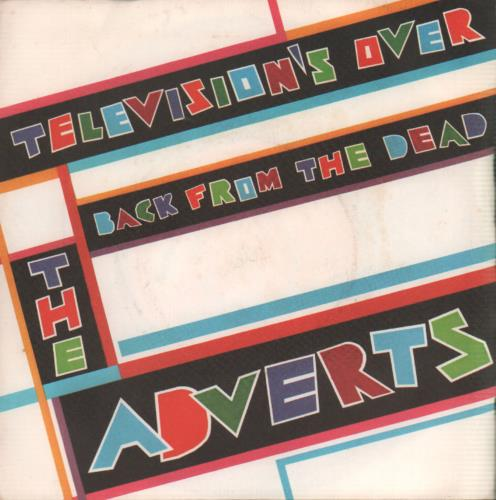 The Adverts Televisions Over  Promo stickered label 1978 UK 7 vinyl PB5128