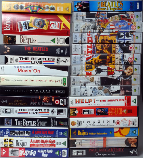The Beatles A Collection Of Thirty VHS Videos UK video VIDEOS