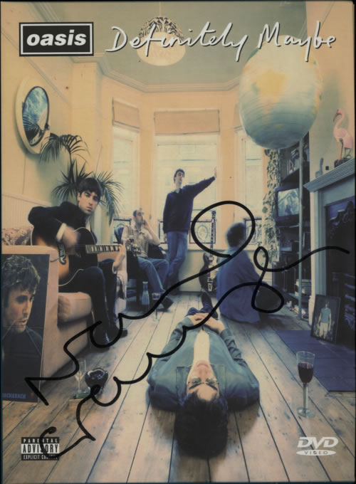 Oasis Definitely Maybe - Autographed 2004 UK DVD RKIDDVD06X