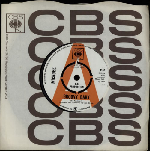 Microbe Groovy Baby - A Label 1969 UK 7\