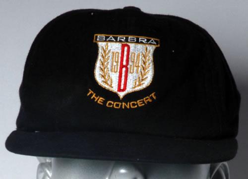 Image of Barbra Streisand Barbra The Concert 1994 UK hat BASEBALL CAP